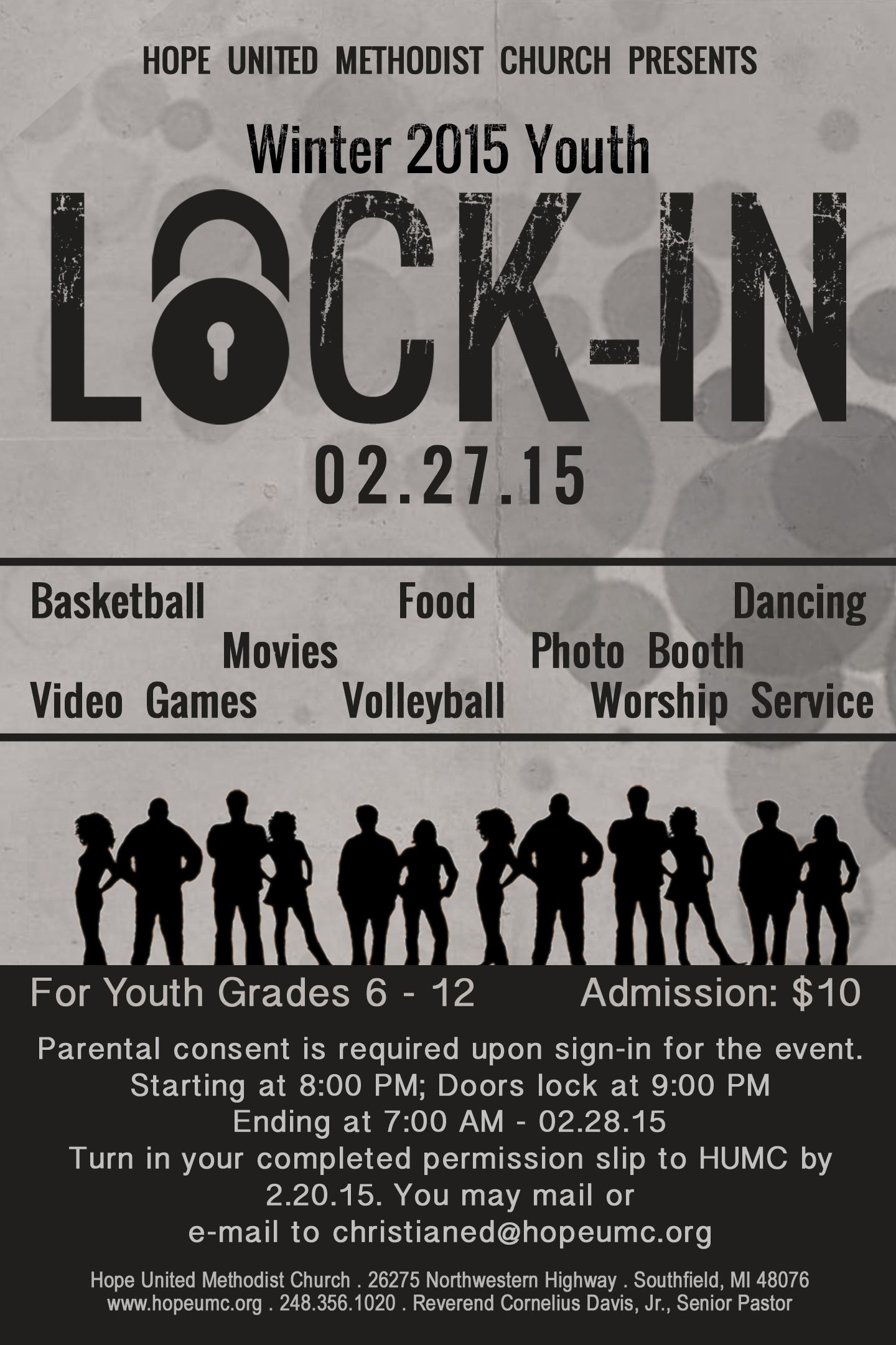 Submit Your Permission Slip By February 20 For The Youth Lock In