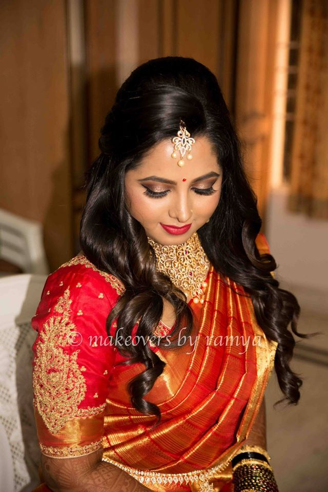 South Indian Bride Reception Hairstyle