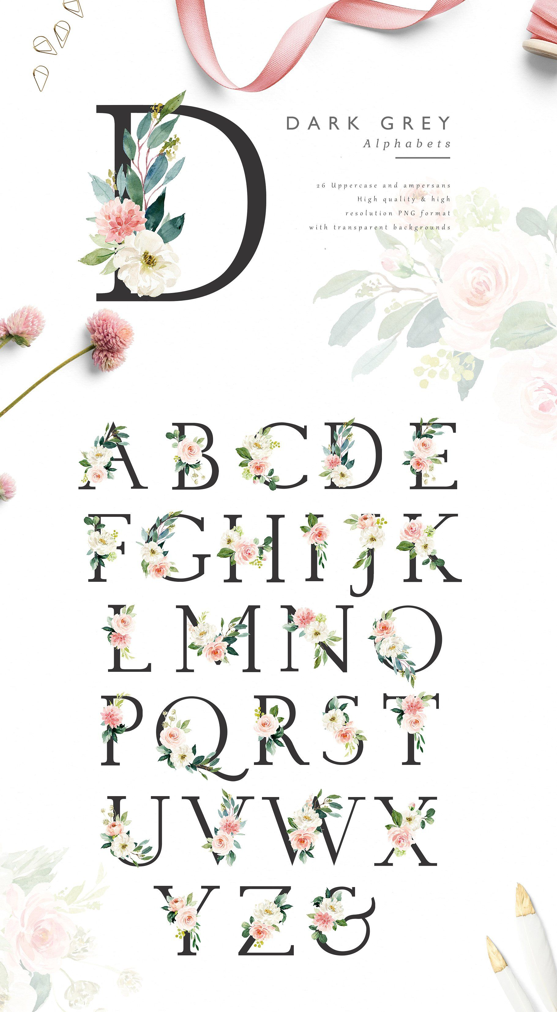 Ethereal Blush-Florals Graphic Set by Graphic Box on @creativemarket #illustrationart