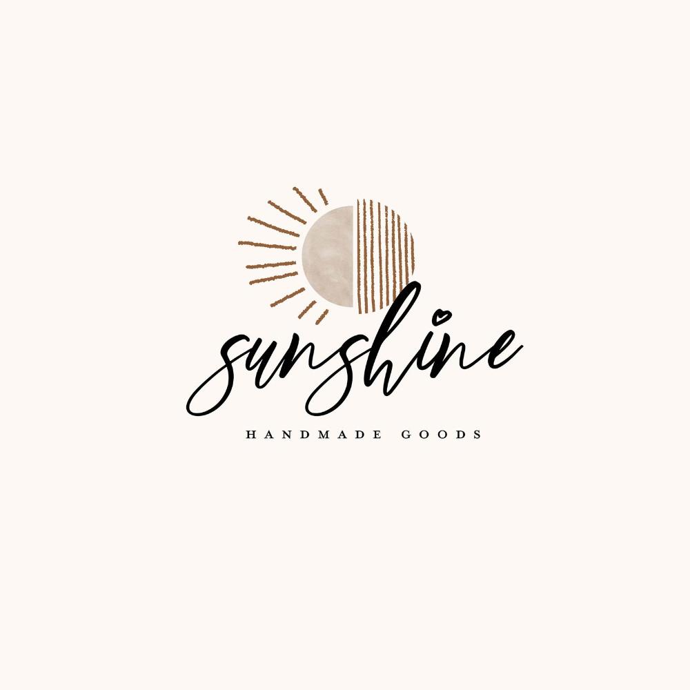 Premade Boho Logo Design Sunset Sunrise Sunshine Nature Hand Etsy Boho Logo Design Boho Logo Sunshine Logo