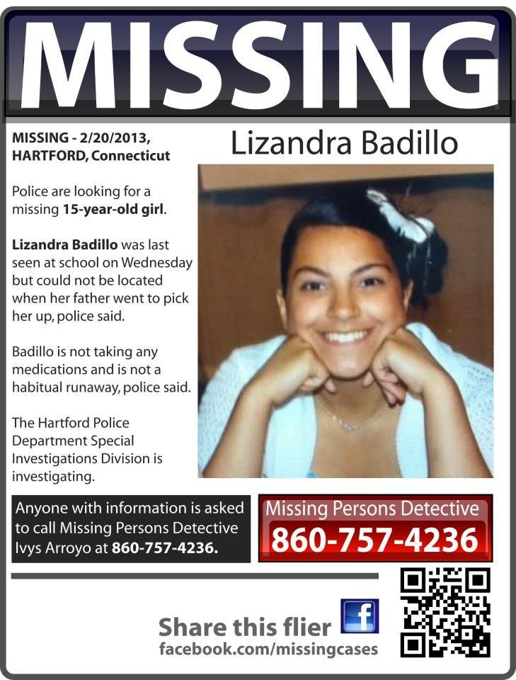Missing 15 Year Old Girl Found: Lizandra Badillo, 15, Was Last Seen At School