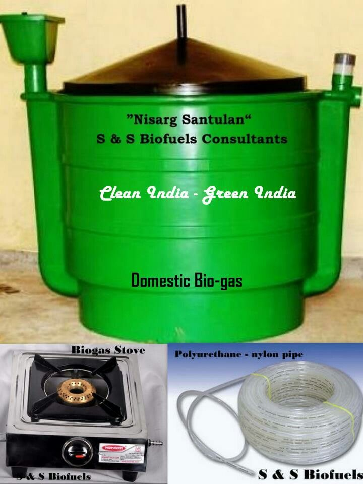 Domestic biogas unit  generate cooking gas with kitchen
