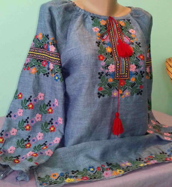 Ukrainian Embroidery Embroidered Blouse Xs 4xl Ukraine Etsy Embroidered Clothes Embroidery On Clothes Embroidered Blouse