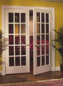 Charmant 15 Lite French Clear Glass Primed Door