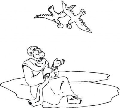 Ravens kids coloring pages ~ Elijah fed by ravens coloring | Bible coloring pages ...