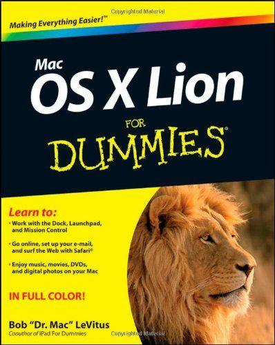Mac OS X Lion For Dummies (For Dummies (Computer/Tech)) $1455