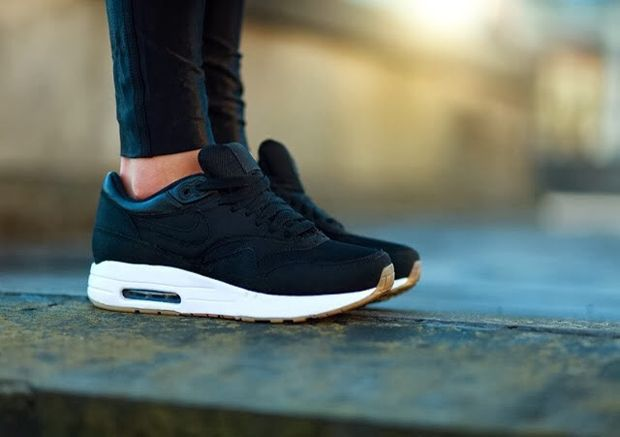 Nike Air Max Thea All Black With Arctic White And Gum Sole