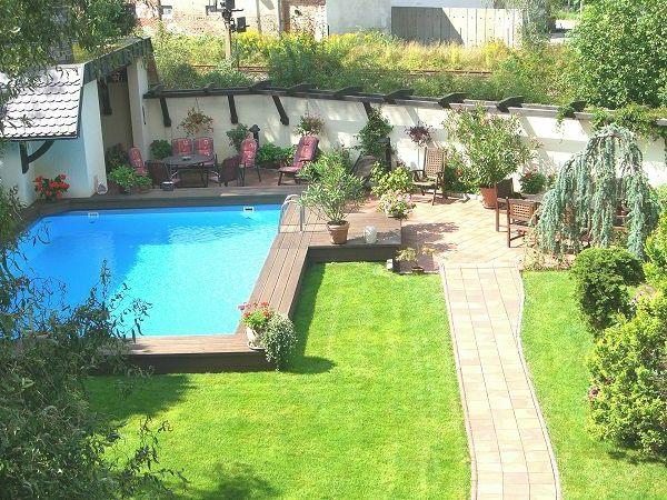 tolle-Gestaltungsidee-für-Pool-im-Garten Garten Pinterest - kosten pool im garten
