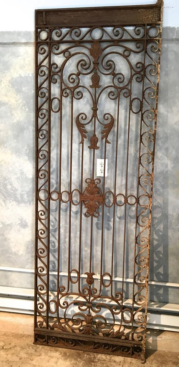 Large French Wrought Iron Gate 2 With Images Wrought Iron Gate