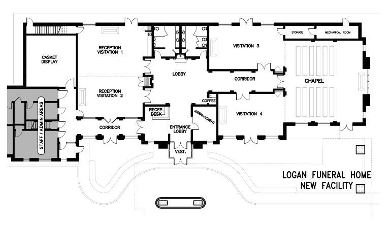 funeral home designs. BardenCommercial  Floor Plans misc Pinterest