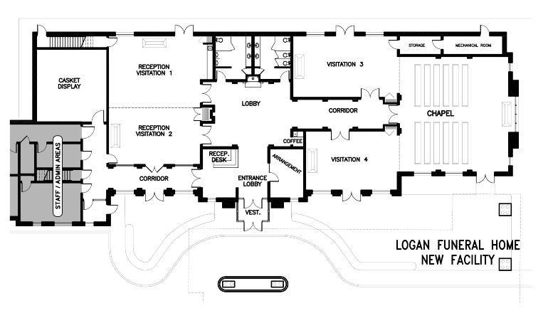 Bardencommercial floor plans misc pinterest - Modern funeral home interior design ...