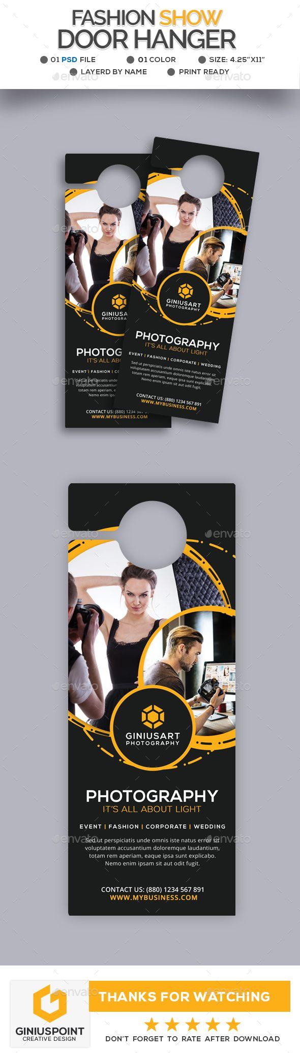 Fashion Show Door Hanger  Door Hanger Template And Print Templates