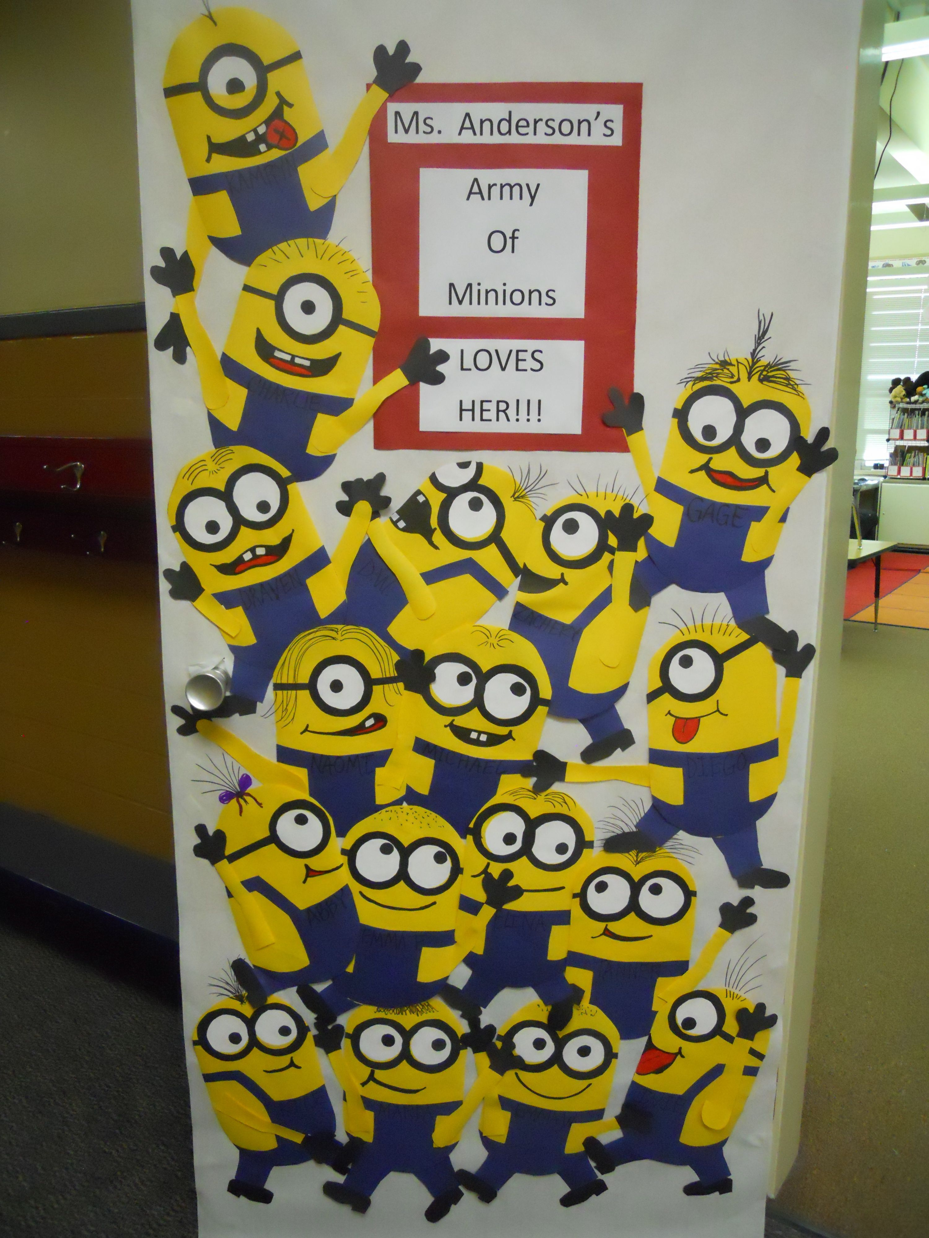 Classroom Visitor Ideas : Love it minions bulletin board welcome back little