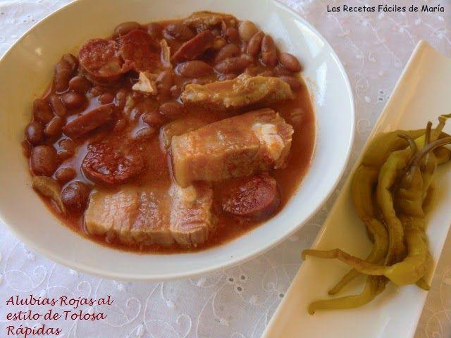 Alubias rojas al estilo de tolosa receta r pida recetas r pidas alubias y recetas f ciles - Como cocinar alubias rojas ...