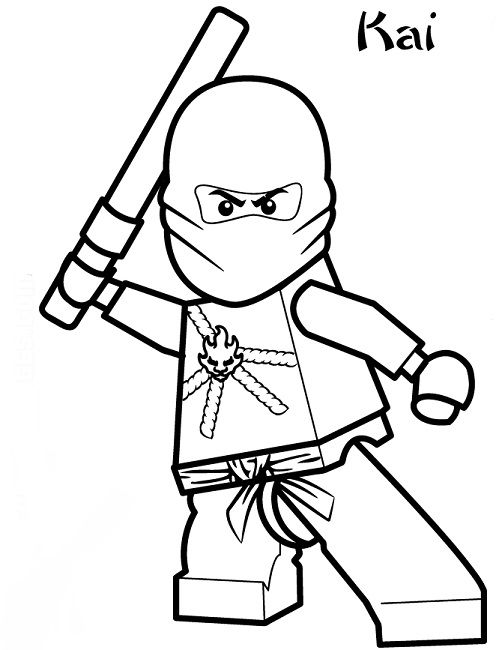 lego ninjago coloring pages kai | drawings | Pinterest | Colorear ...