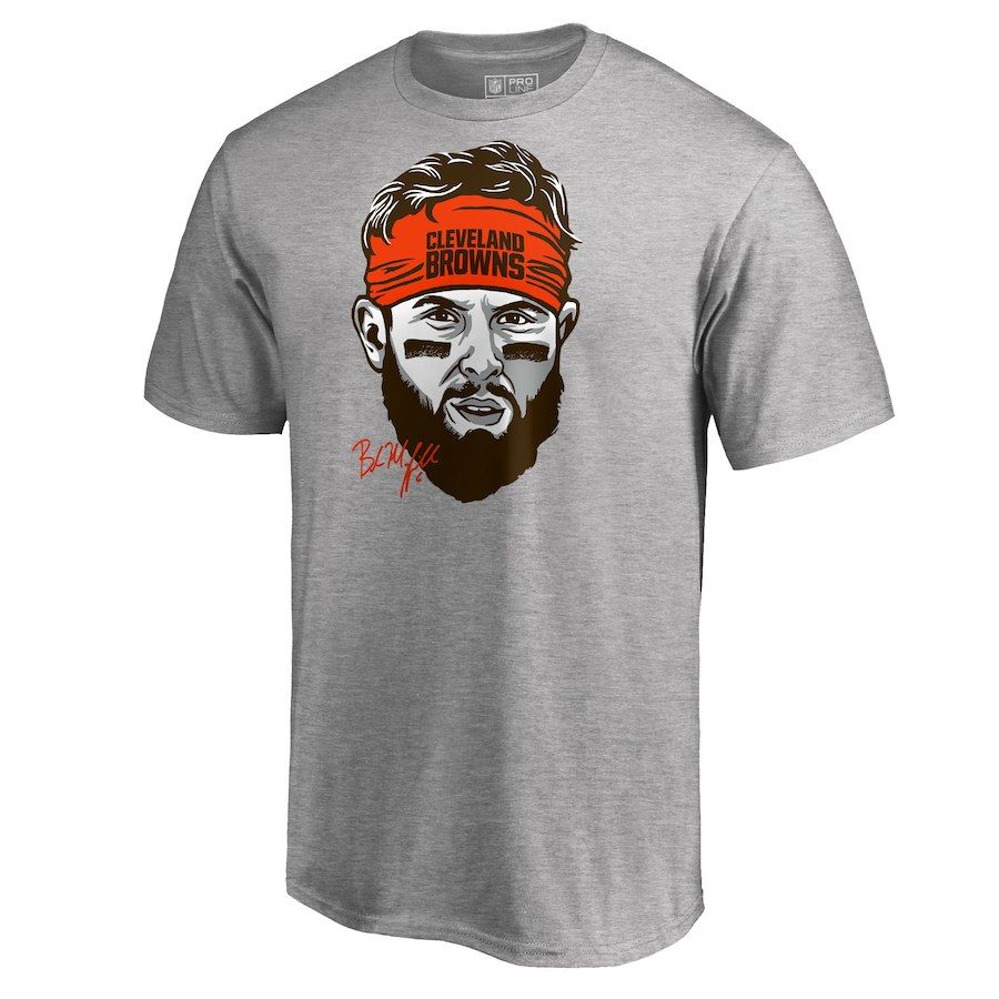 Baker Mayfield Cleveland Browns NFL Pro Line by Fanatics Branded Baker  Mayfield Headband T-Shirt – Heather Gray afb135421