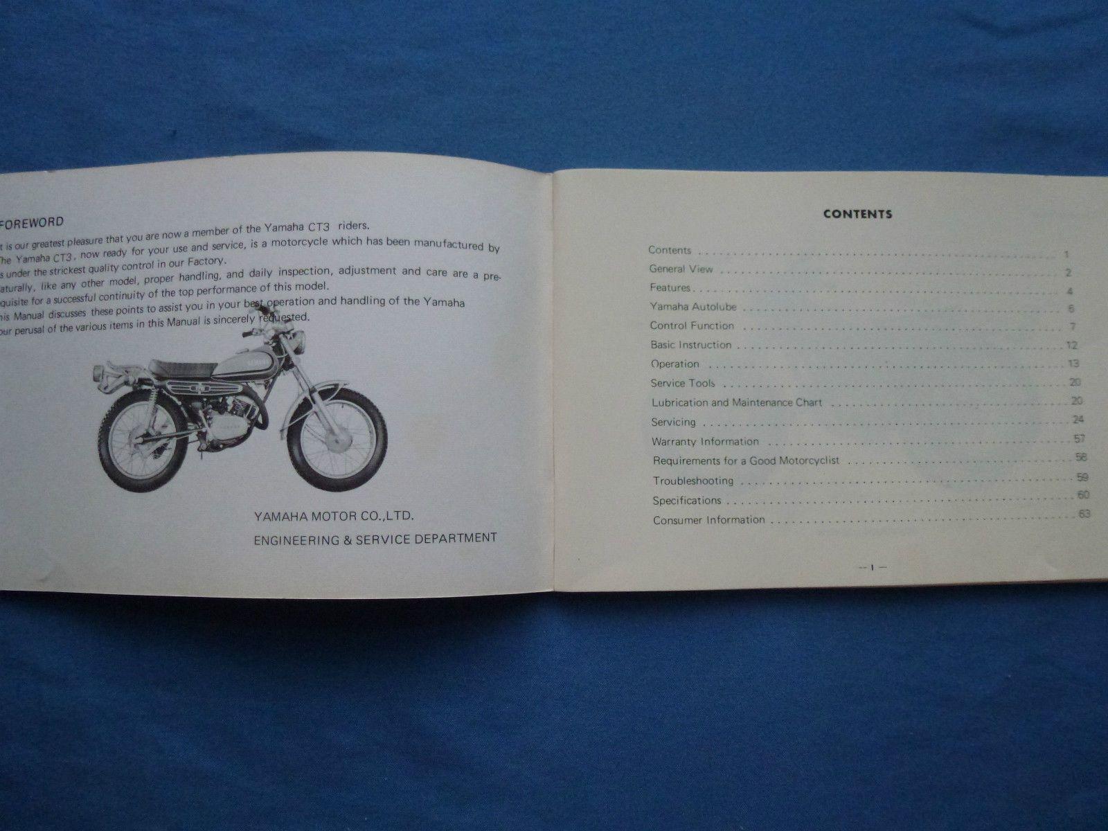 yamaha ct3 service manual