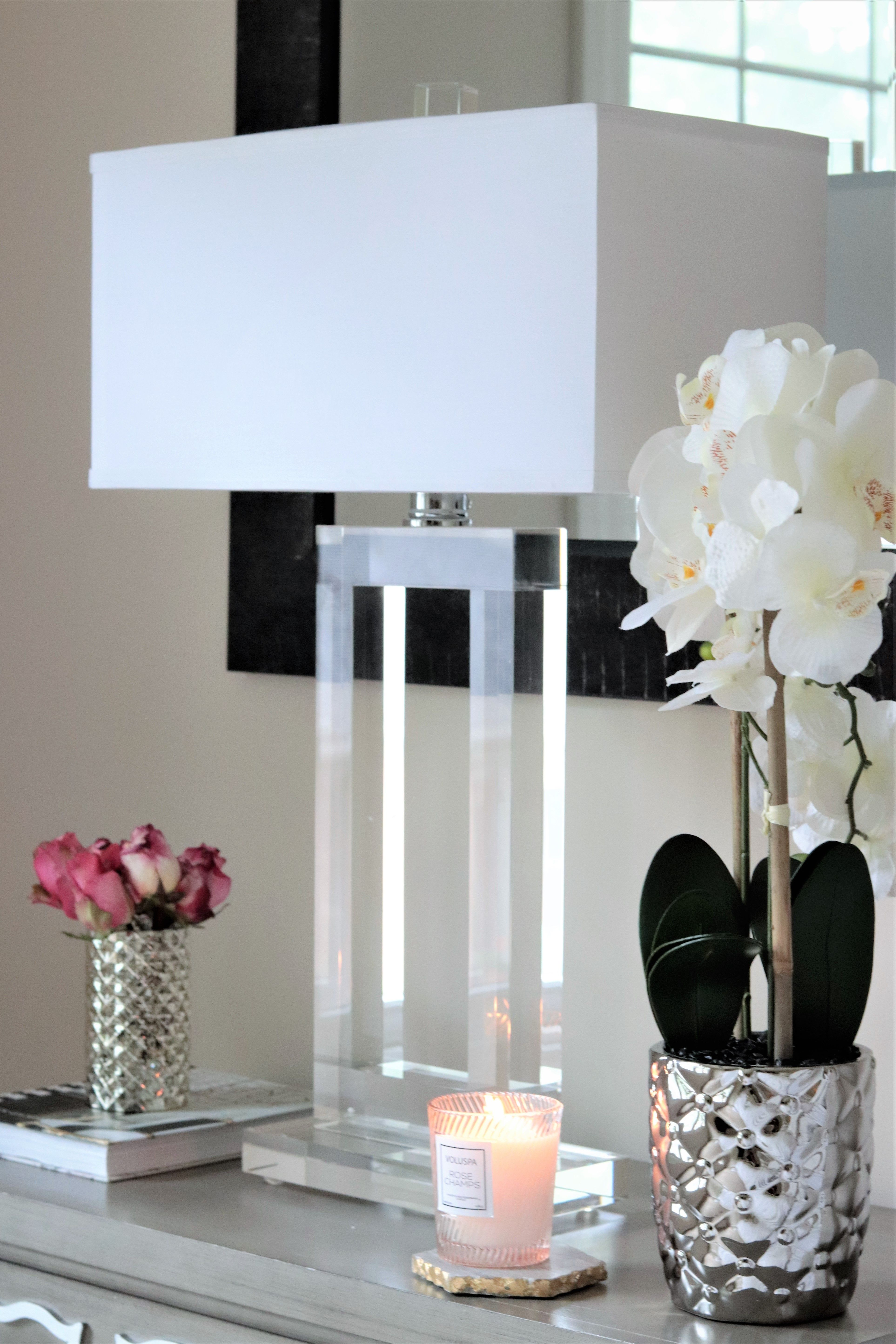 Vienna Full Spectrum Window Modern Crystal Table Lamp 3m960 Lamps Plus In 2020 Table Lamps For Bedroom Crystal Table Lamps Modern Lamp