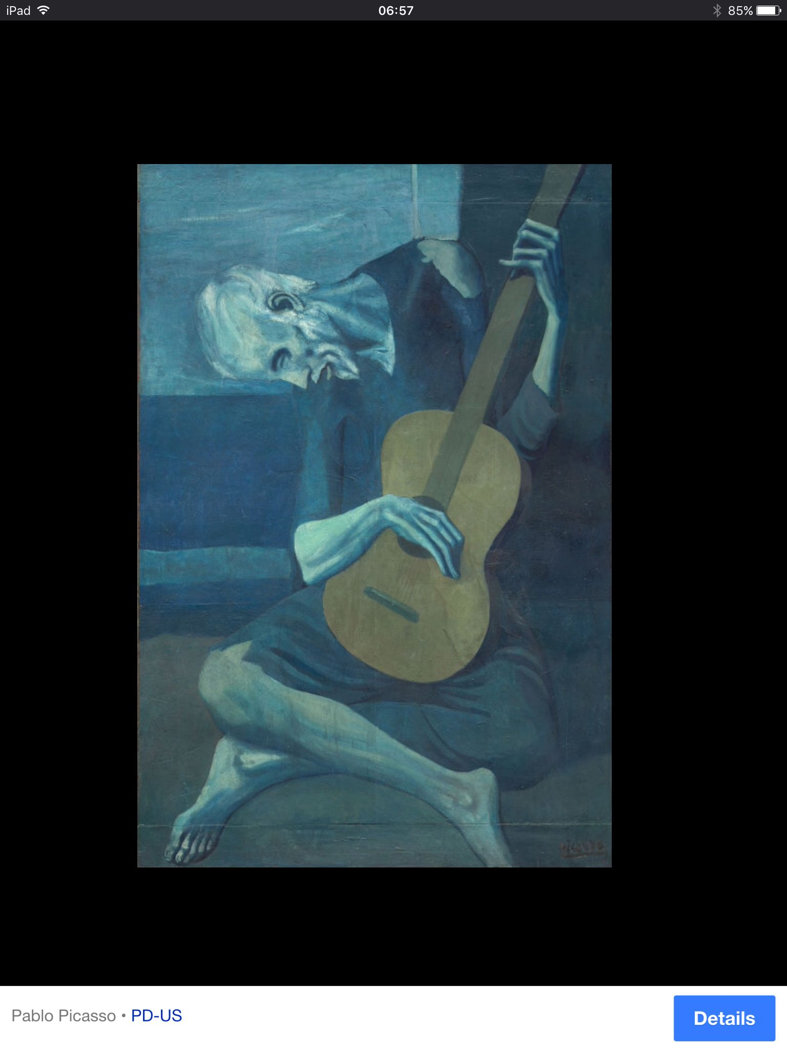 picasso old guitar player