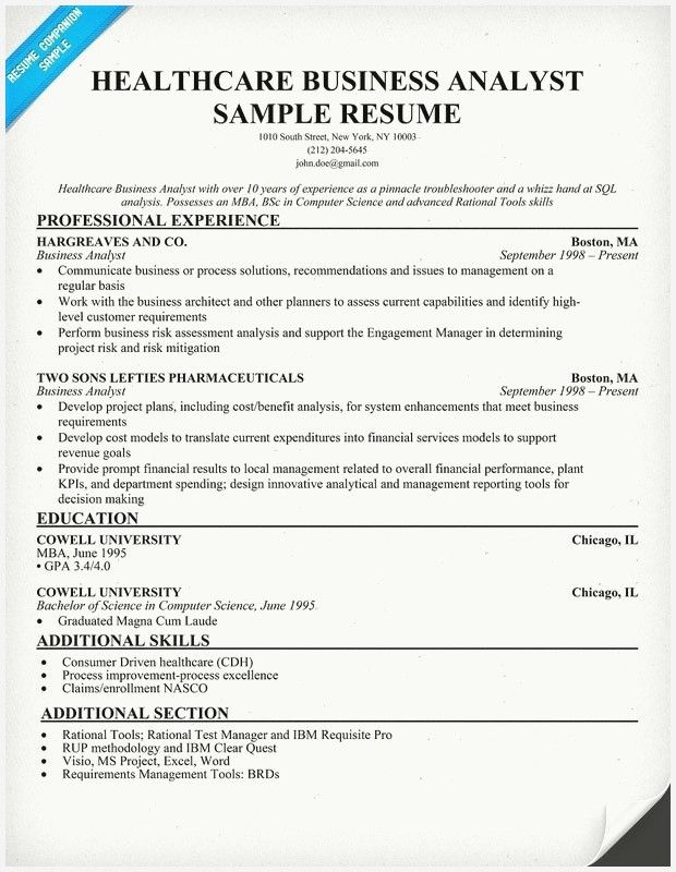 52 New Healthcare Business Analyst Resume Collection Business Analyst Resume Business Analyst Job Resume Samples