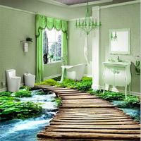 Modern Toilets Custom 3d Floor Painting Mural Bathroom Wear Non Slip Waterproof Thickened Self Adhesive Diseno De Suelo 3d Piso De Porcelanato Inodoro Moderno