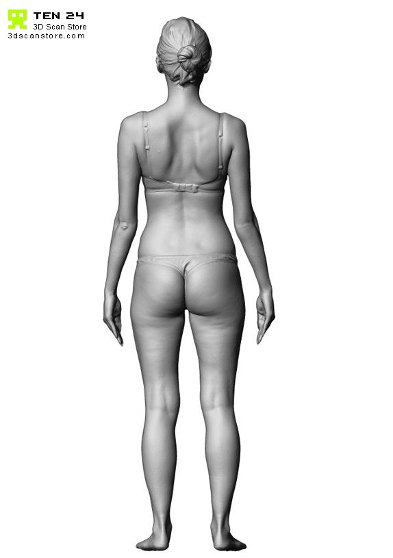 Buy And Sell 3d Scans Full Body 3d Scan Female 03 Underwear Arms