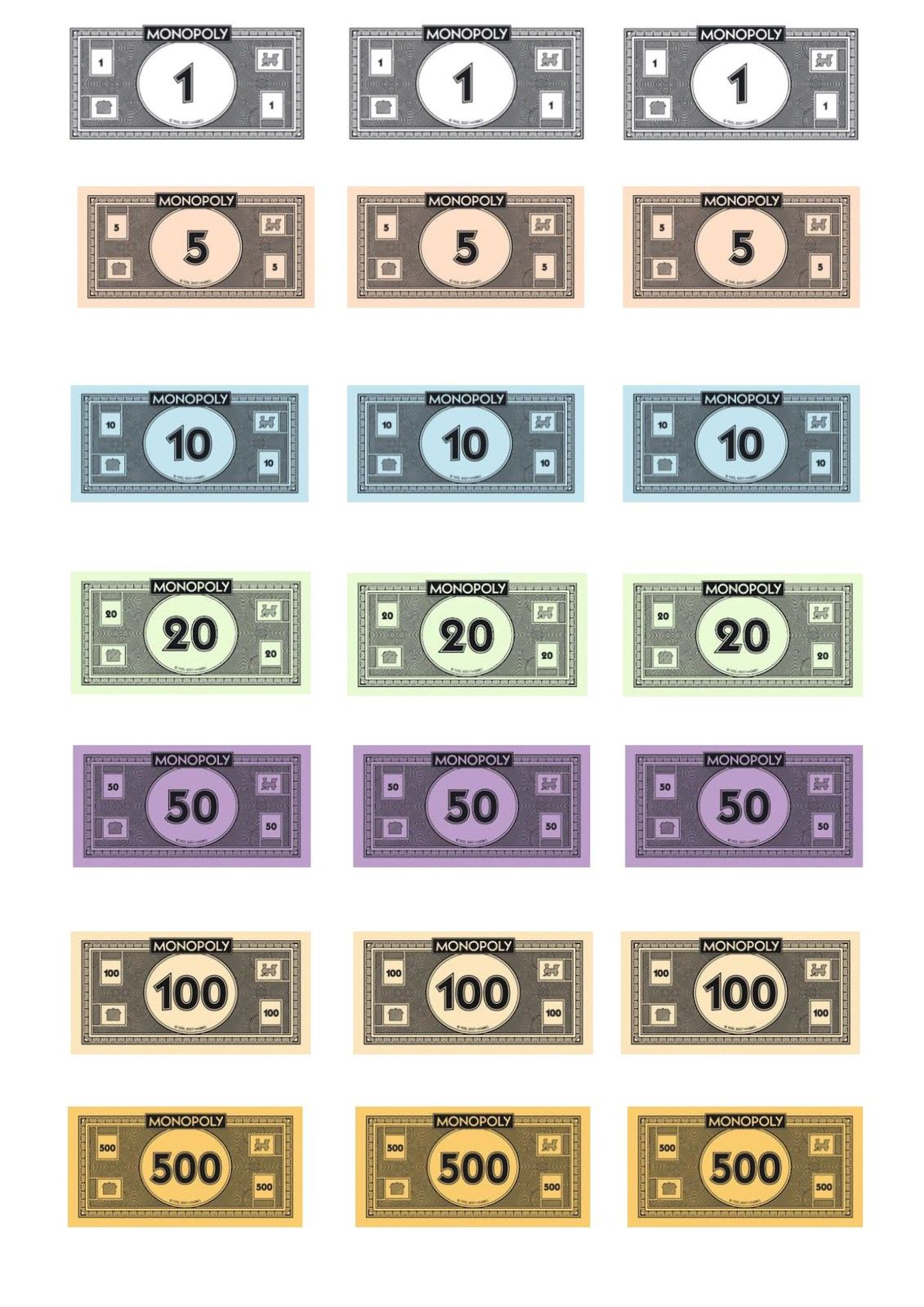 Free Monopoly Money Template