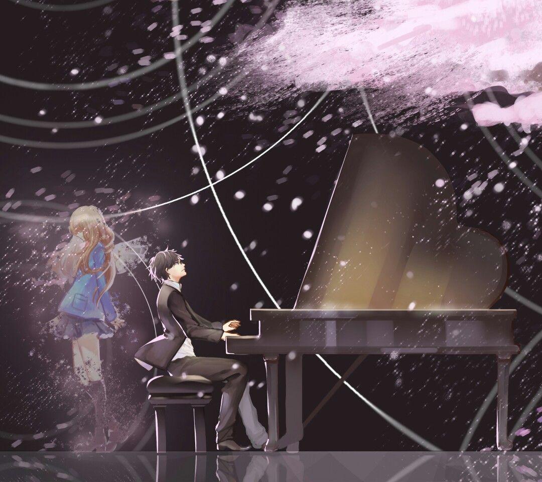 Kaori Miyazono and Kousei Arima Shigatsu wa Kimi no Uso