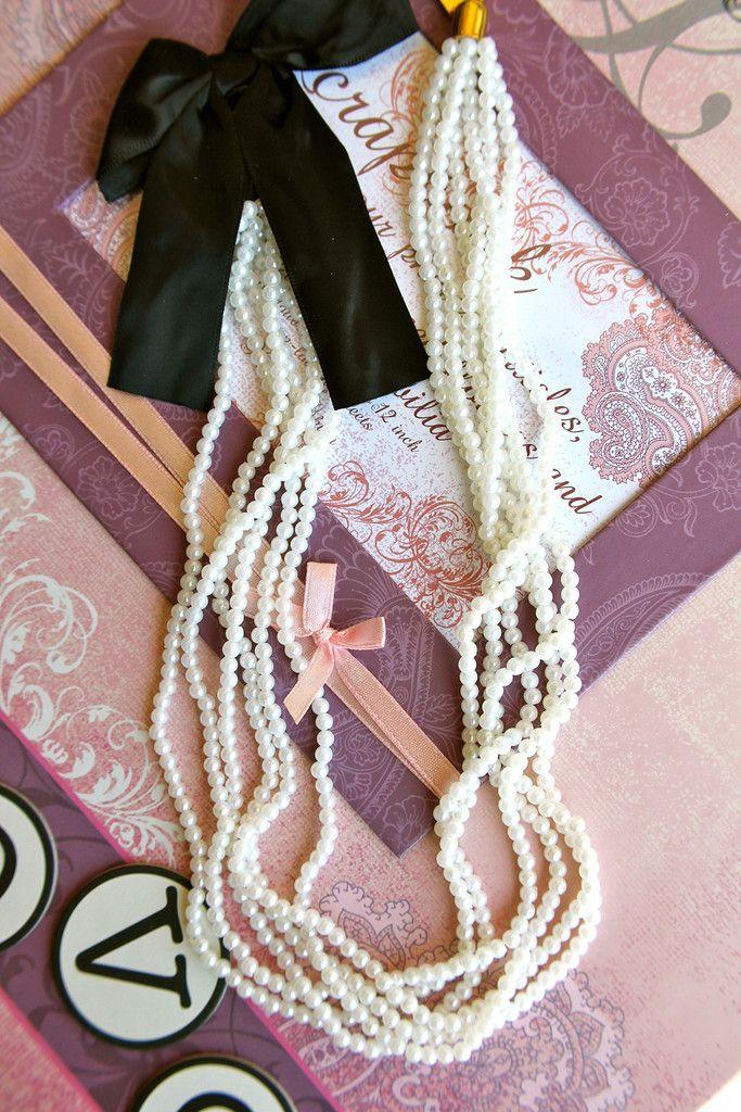 A Satin Ribbon and Pearl Affair