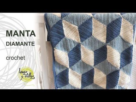 MANTA DIAMOND PASO A PASO CON VÍDEO TUTORIAL | Patrones Crochet ...