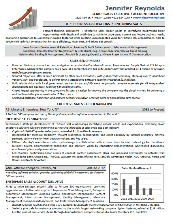 Enterprise Sales Executive Resume Resume Examples Executive Resume Template