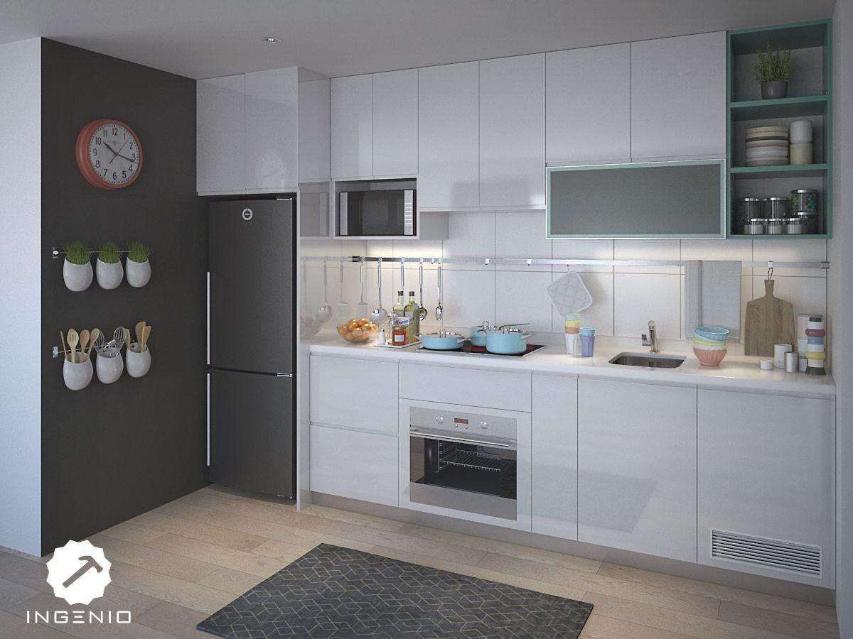 Mueble cocina en poliuretano cocinas pinterest for Mueble para estufa