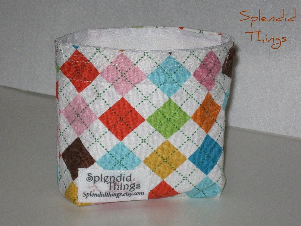 Reusable Snack Bag. Gusseted.  Eco Friendly. $6.50, via Etsy.