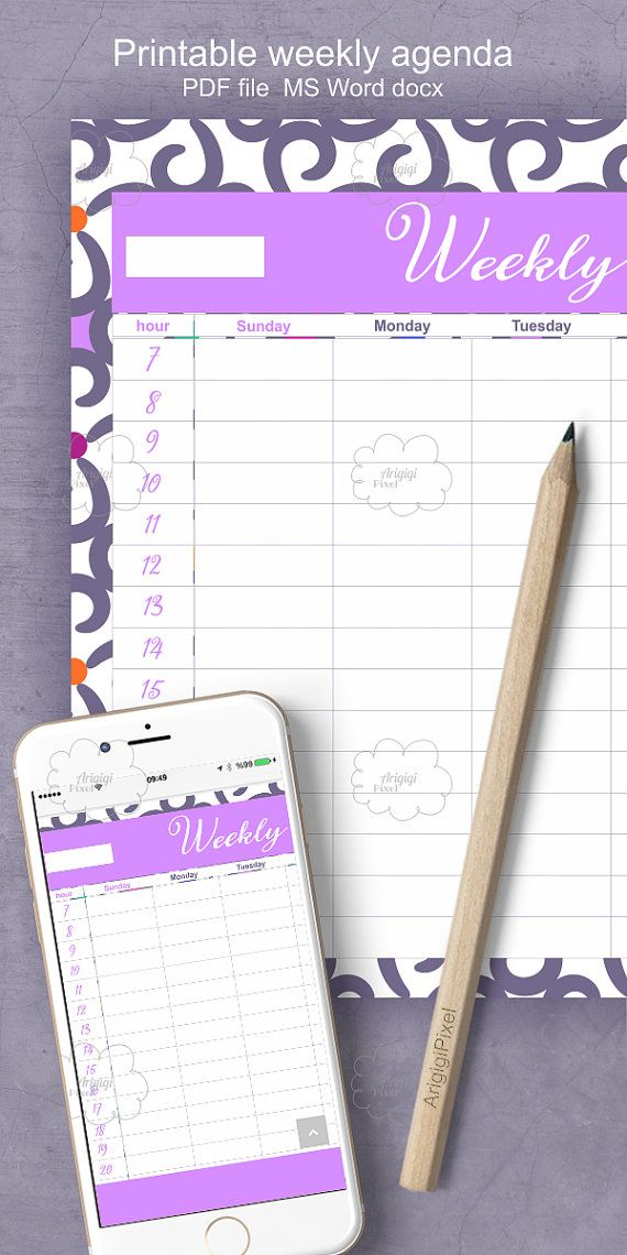 Editable #weekly #agenda for #letter #size #paper This #blank - weekly agenda