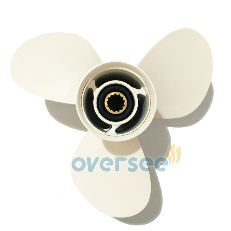 85.00$  Buy now - http://aliq9k.worldwells.pw/go.php?t=1931839929 - OVERSEE 69W-45958-00-EL Propeller Size 11-1/4x14-G For Yamaha 40HP 50HP Outboard Engine  11 1/4 x 14 - G