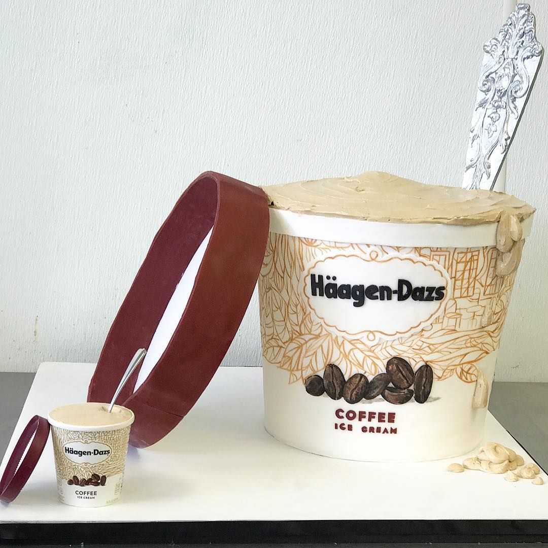 Haagen dazs coffee icecream cake national icecream day