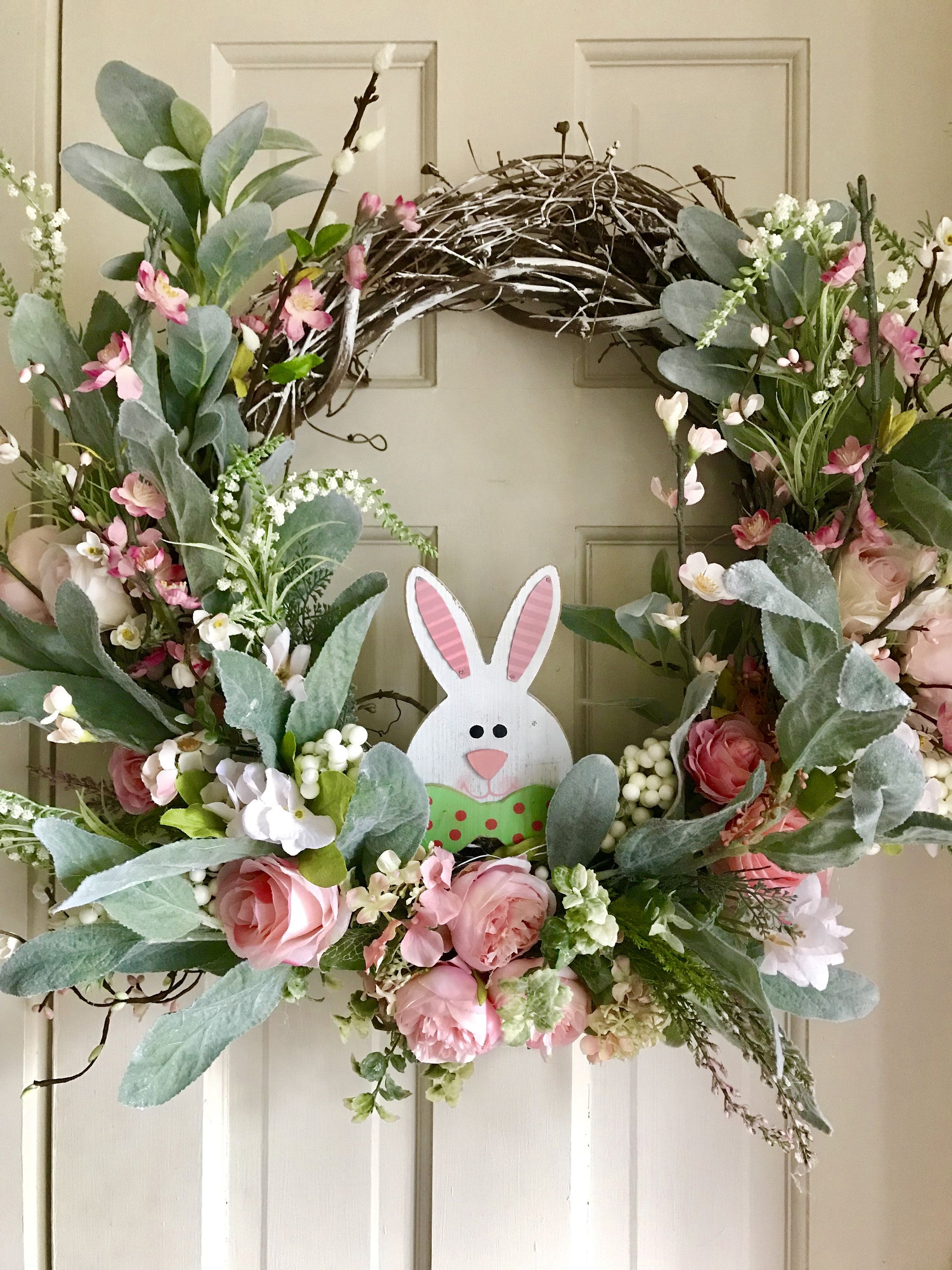 Easter Spring grapevine wreath