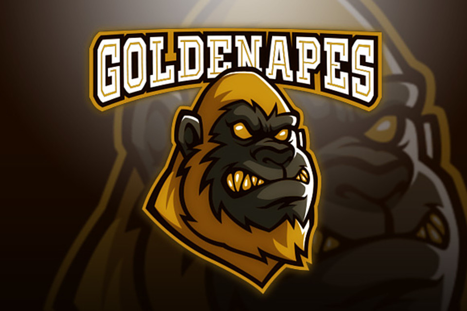 Golden Apes Logo Logos, Symbol logo, Logos design