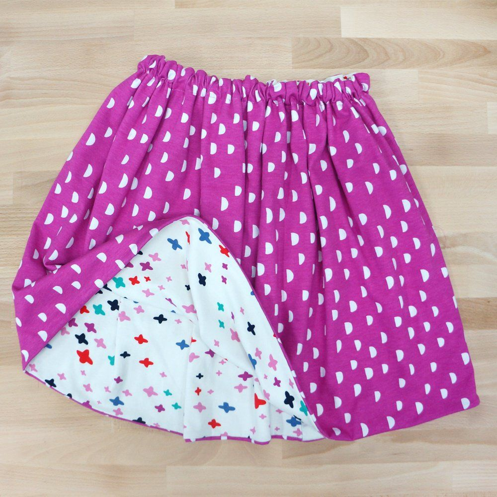 Girl's Fully Reversible Skirt Free Pattern (With images ...
