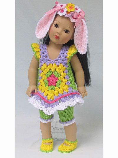 Crochet Doll Clothes & Shoes - Granny\'s Holiday Toppers Crochet ...