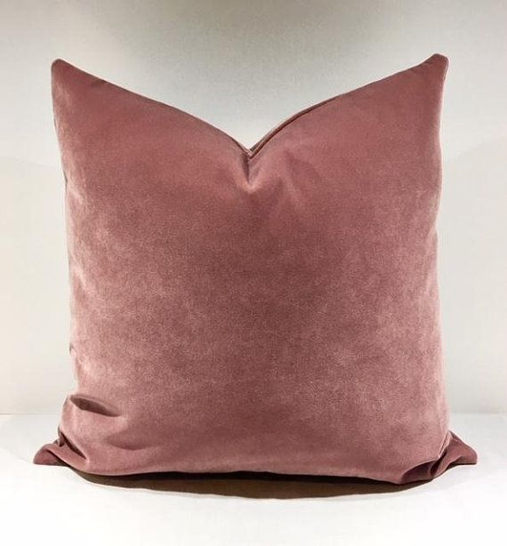 Luxury Dusty Rose Velvet Throw Pillows Pillow Cover