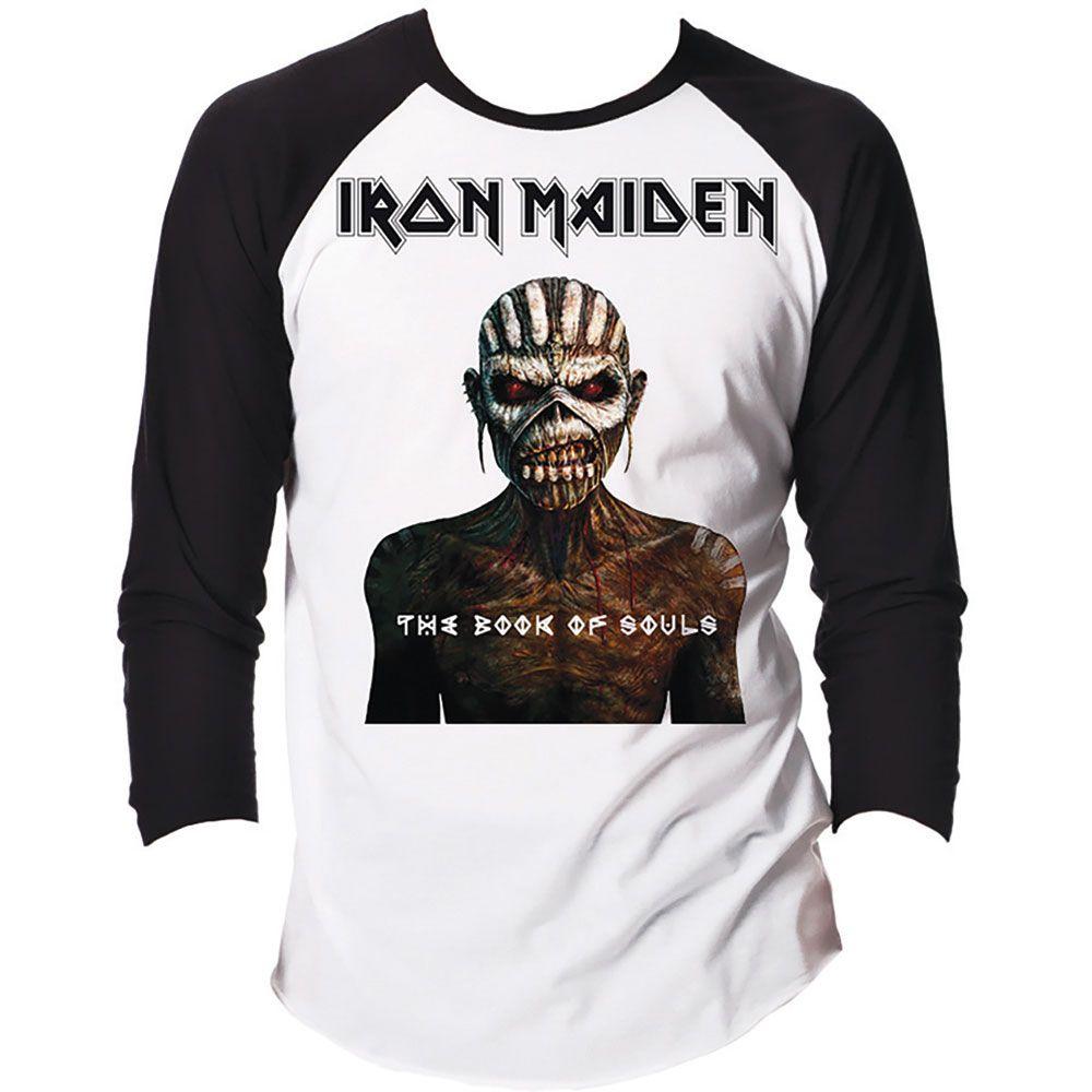 523cc9ae1d9f Iron Maiden Men s Raglan Tee  The Book of Souls