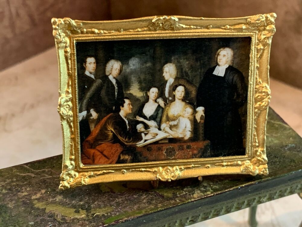 1700/'s Family Miniature Dollhouse Picture