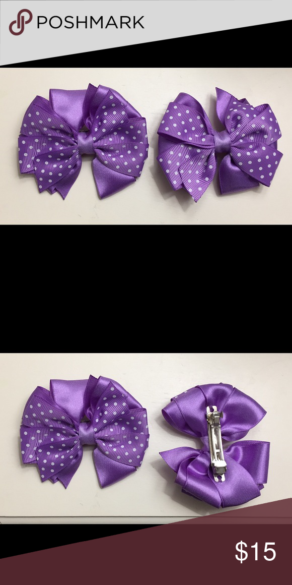 Kids' Clothes, Shoes & Accs. Girls' Accessories Handmade 4 Inch Hair Clip Bow Lilac