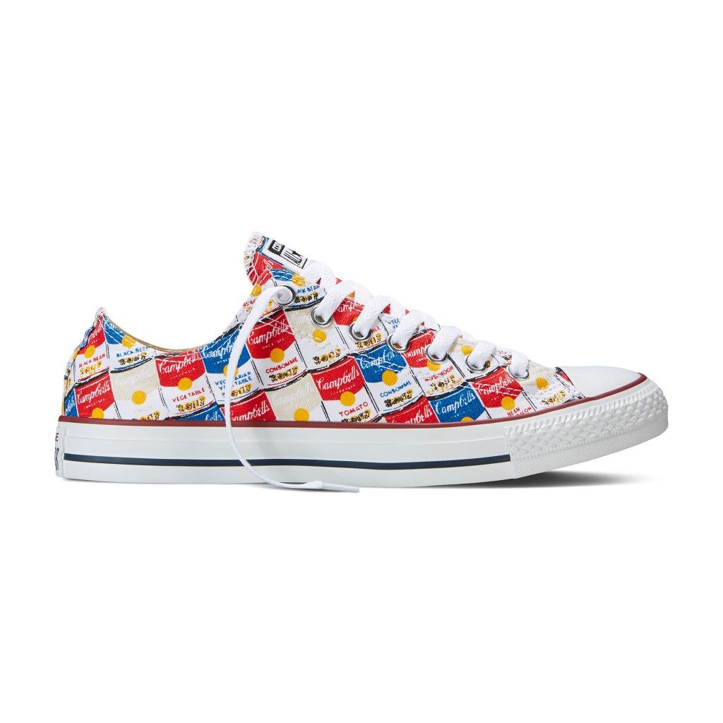 5569c81fc33a Converse Teams up with the Andy Warhol Foundation on Soup Can Sneakers