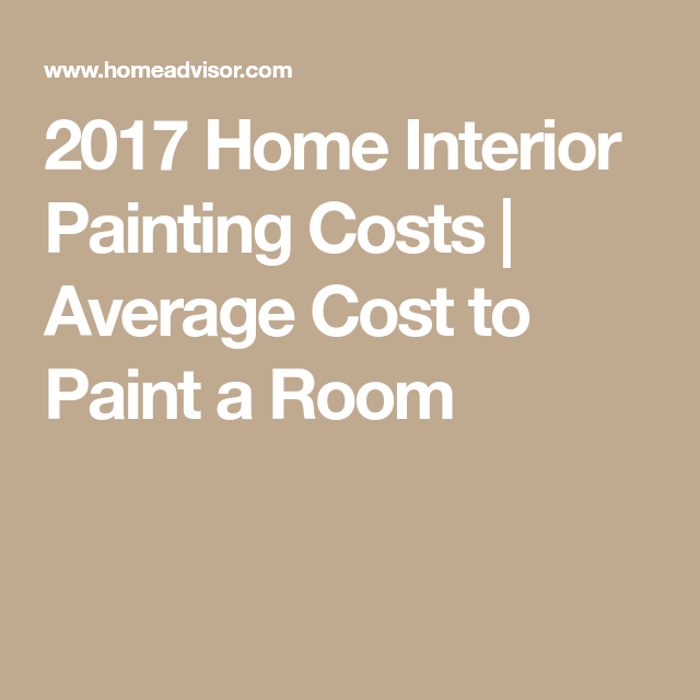 2017 Home Interior Painting Costs | Average Cost To Paint A Room