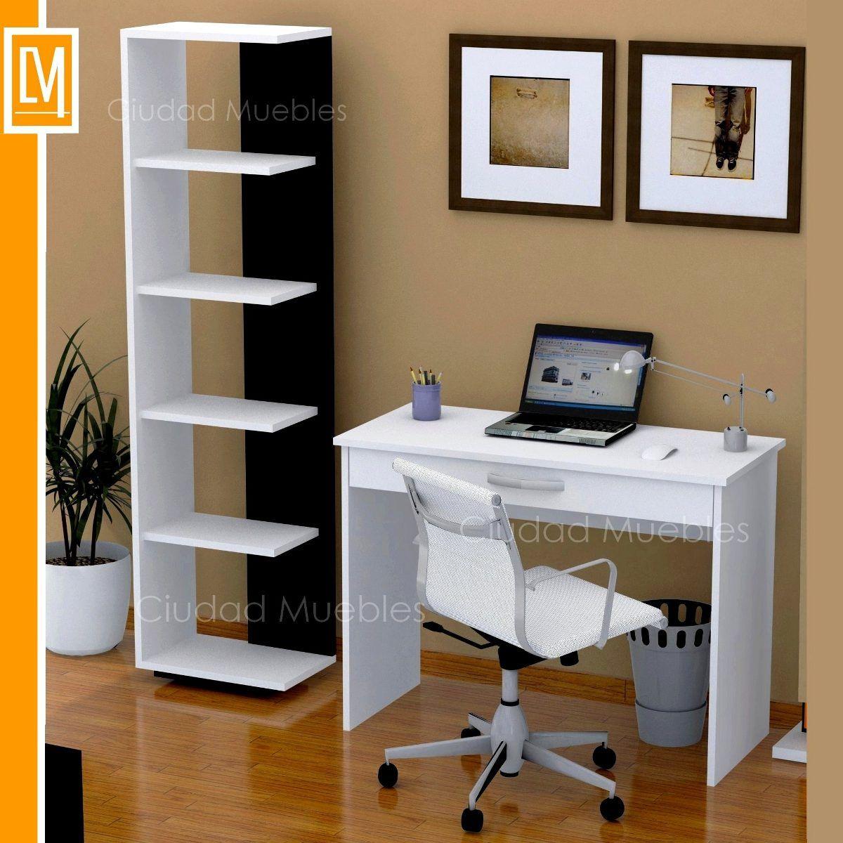 Combo escritorio cajon amplio biblioteca moderna oferta for Muebles para computador