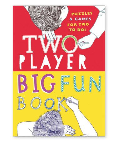 Another great find on #zulily! Two Player Big Fun Activity Book #zulilyfinds