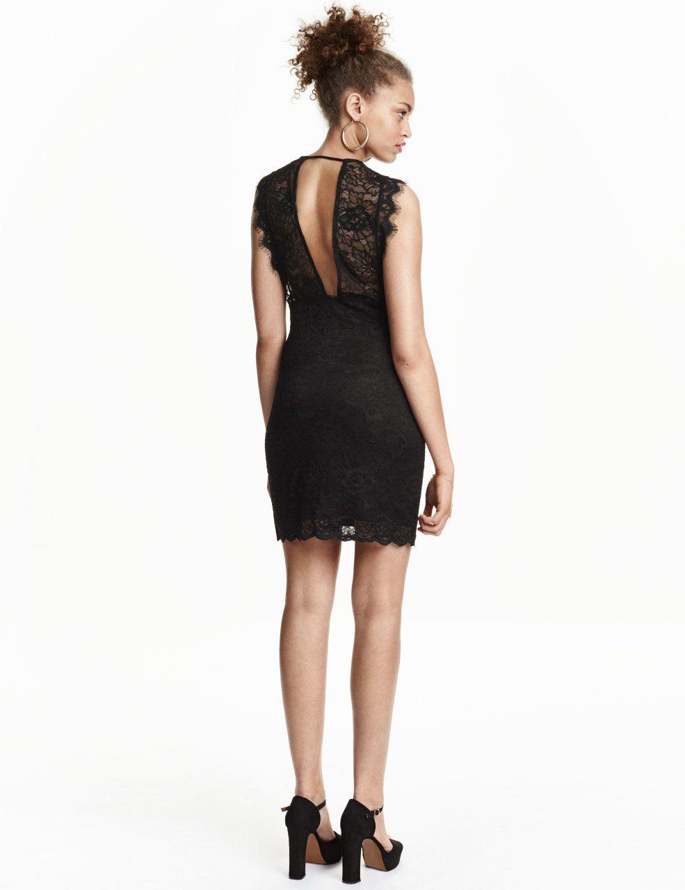 h&m spitzenkleid 14,99 | modestil, kleid schwarz spitze