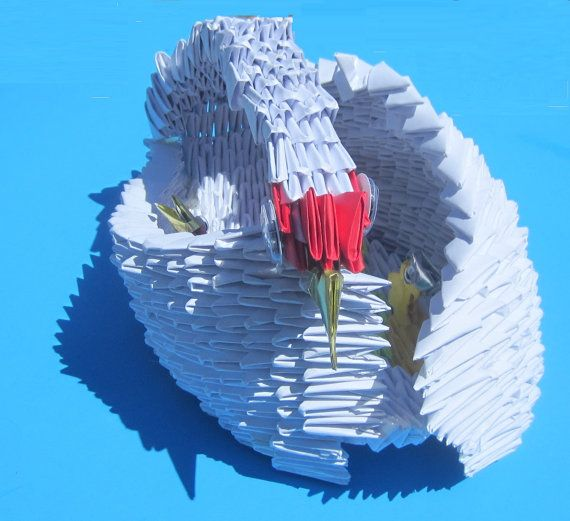 3d Origami Mother Swan And Her Cygnets By Cathytsao On Etsy